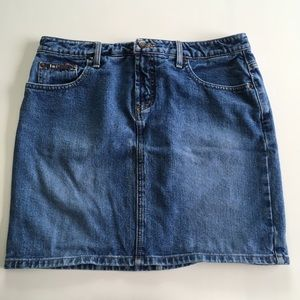Perfect 90s Y2K lei high rise short jean skirt